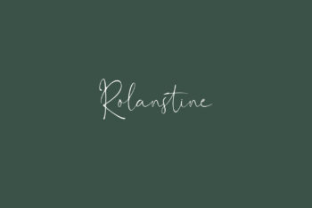 Rolanstine Free Font