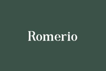 Romerio Free Font