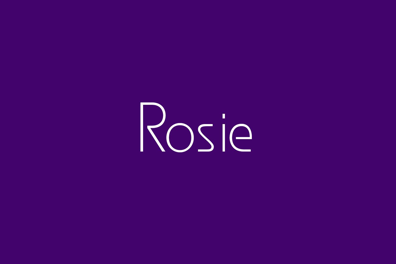 Rosie Free Font