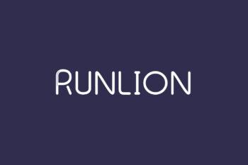 Runlion Free Font