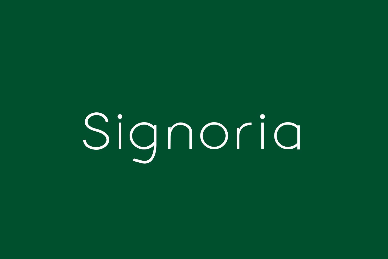 Signoria Free Font
