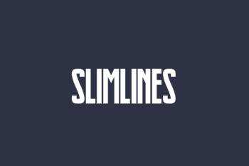 Slimlines Free Font