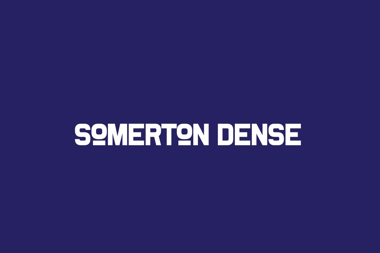 Somerton Dense Free Font