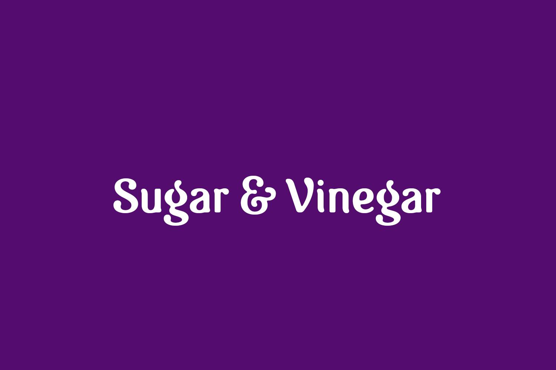 Sugar & Vinegar Free Font