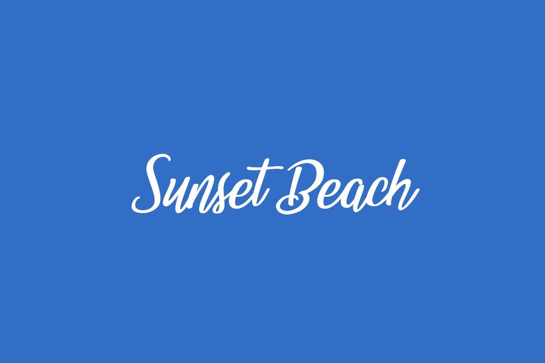 Sunset Beach Free Font