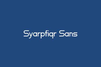Syarpfiqr Sans Free Font