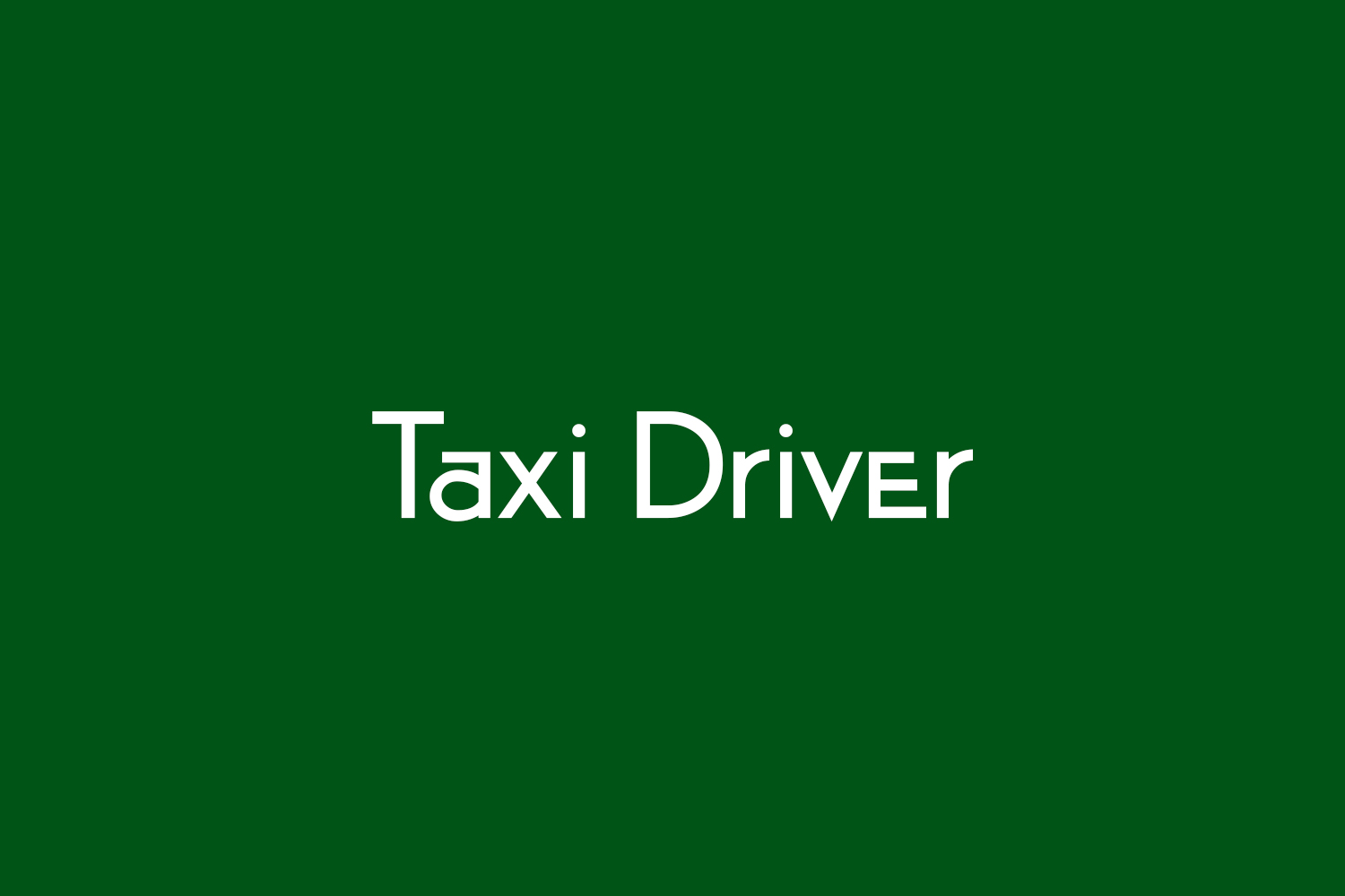 Taxi Driver Free Font