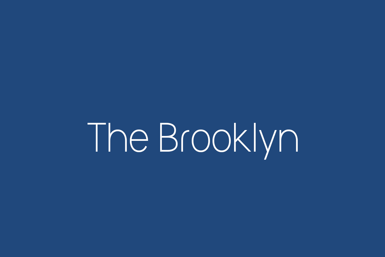 The Brooklyn Free Font