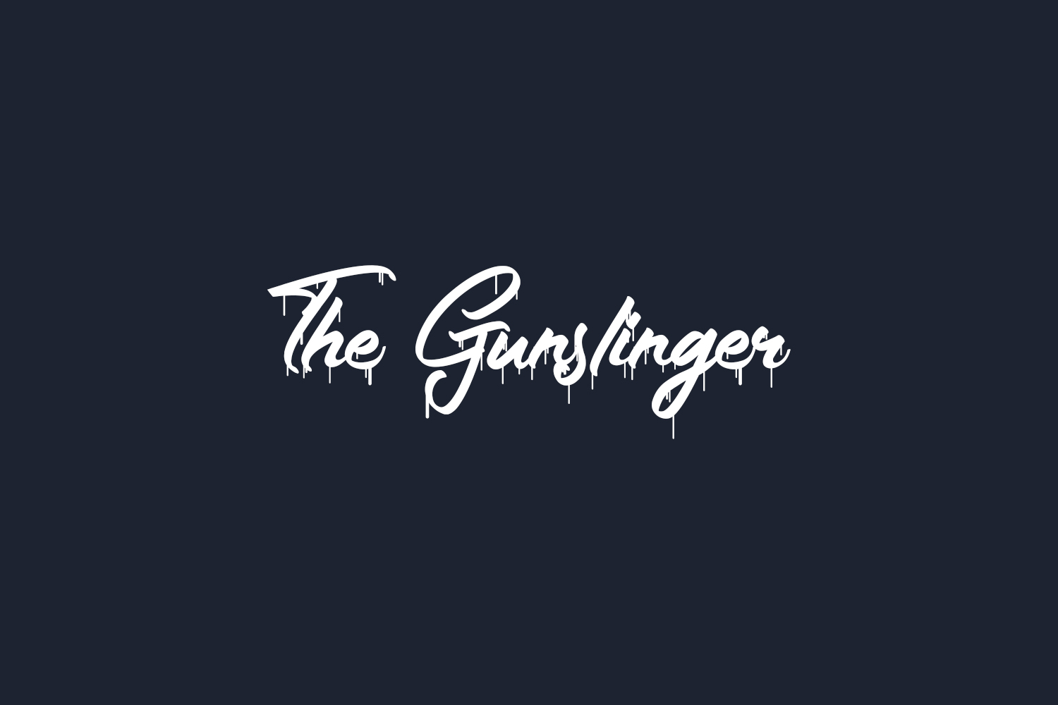 The Gunslinger Waterdrop Free Font