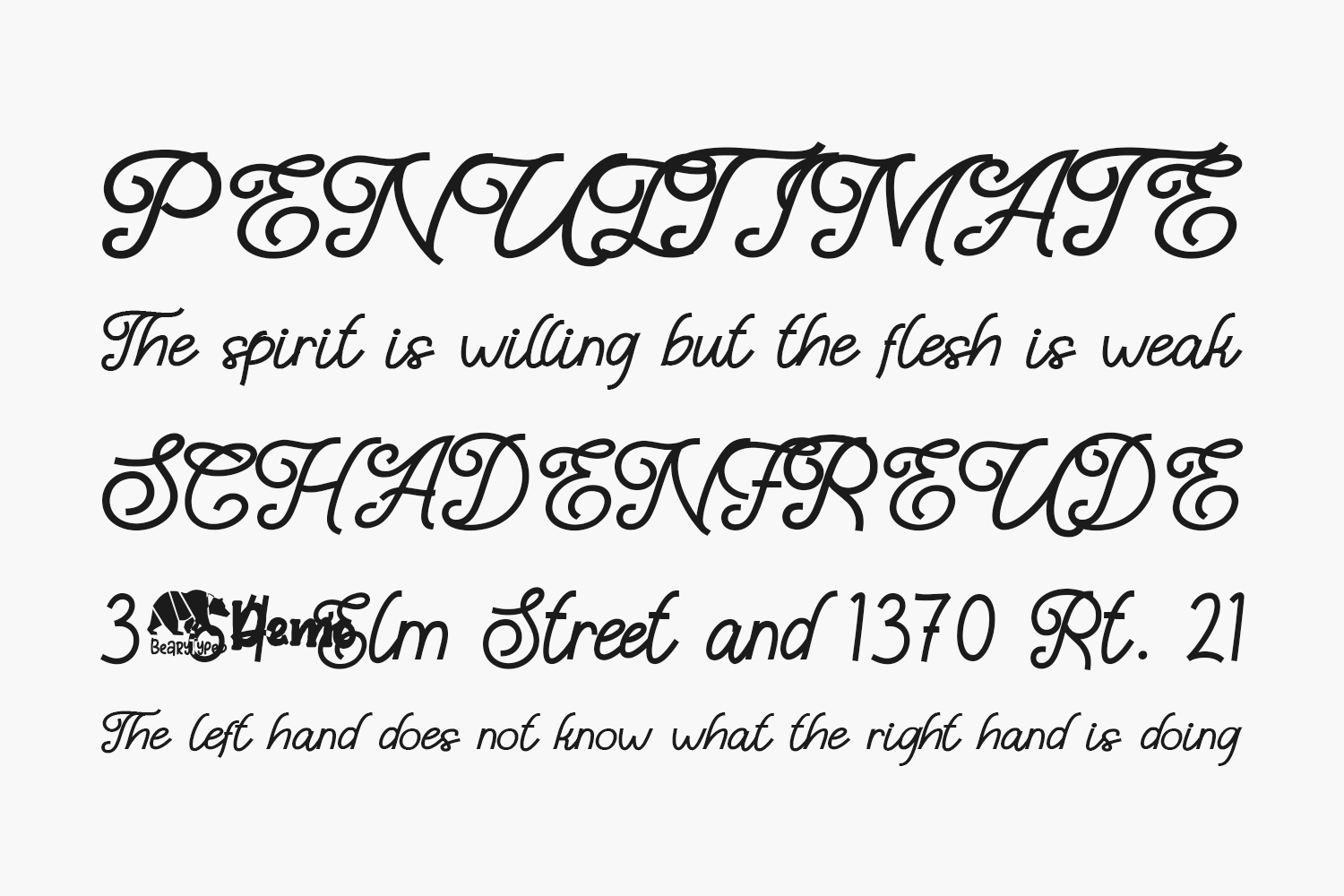 The Manaline Free Font