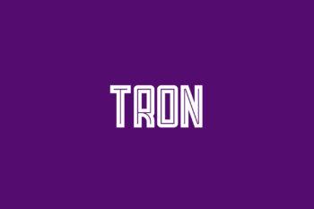 Tron Free Font