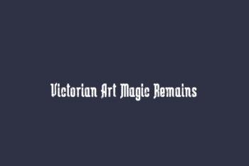 Victorian Art Magic Remains Free Font