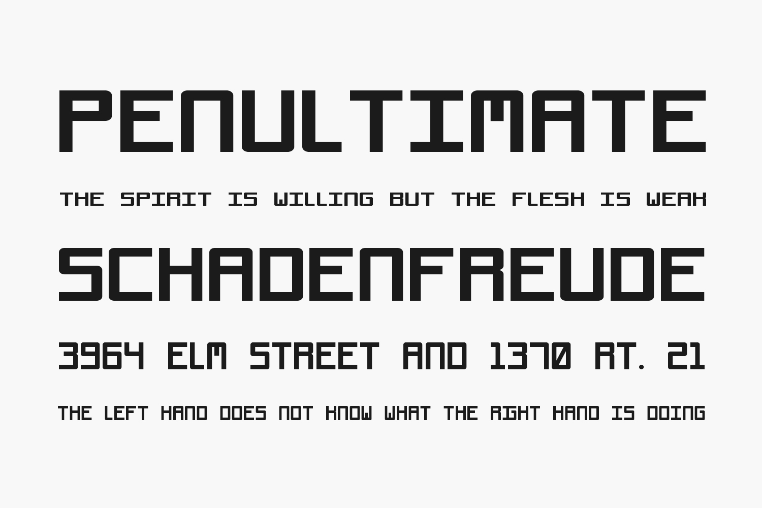 Void Free Font