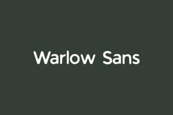 Warlow Sans Free Font