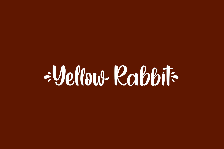 Yellow Rabbit Free Font