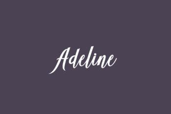 Adeline Free Font