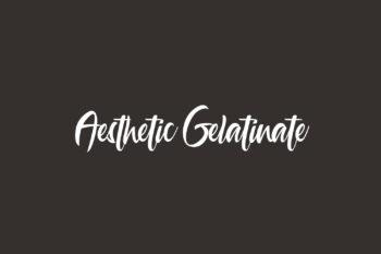 Aesthetic Gelatinate Free Font