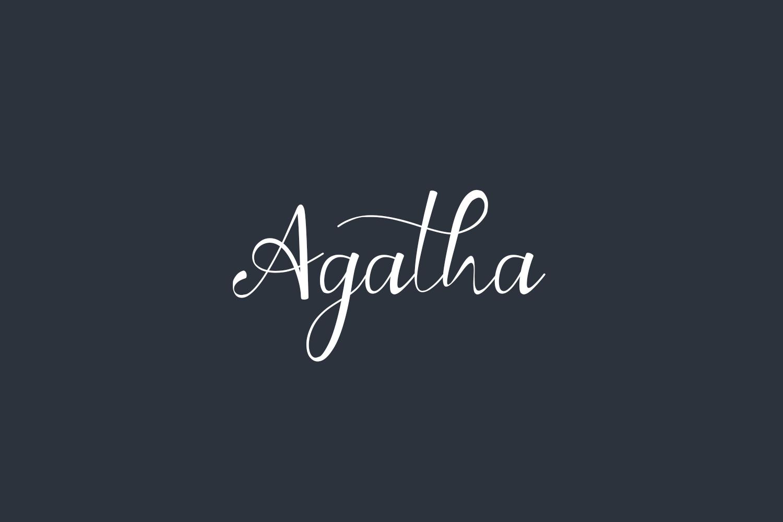 Agatha Free Font