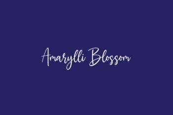 Amarylli Blossom Free Font