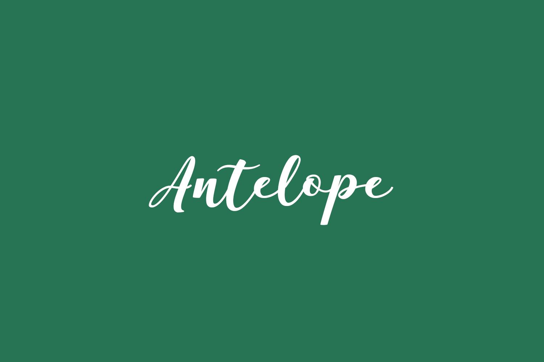 Antelope Free Font