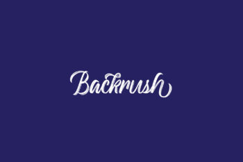 Backrush Free Font