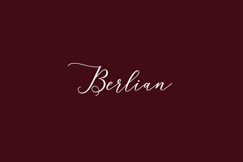 Berlian Free Font