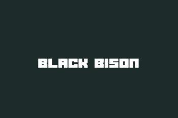 Black Bison Free Font