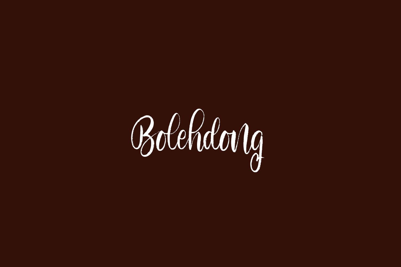 Bolehdong Free Font
