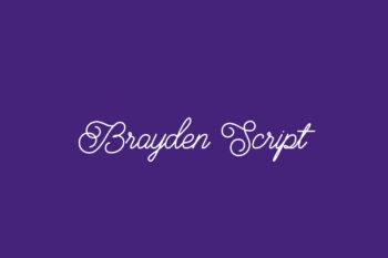Brayden Script Free Font