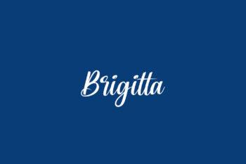 Brigitta Free Font