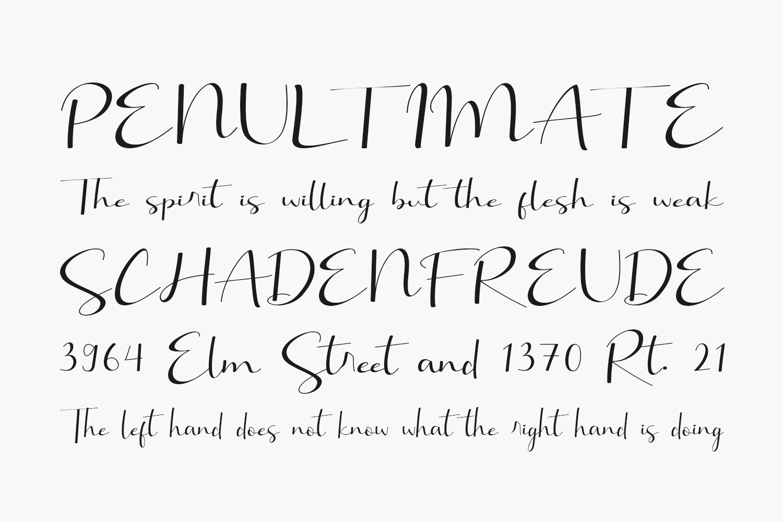 Brillia Calligraphy Free Font