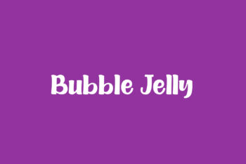 Bubble Jelly Free Font