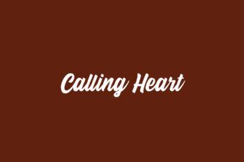 Calling Heart Free Font