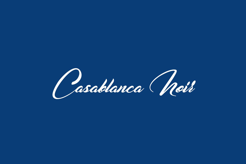 Casablanca Noir Free Font