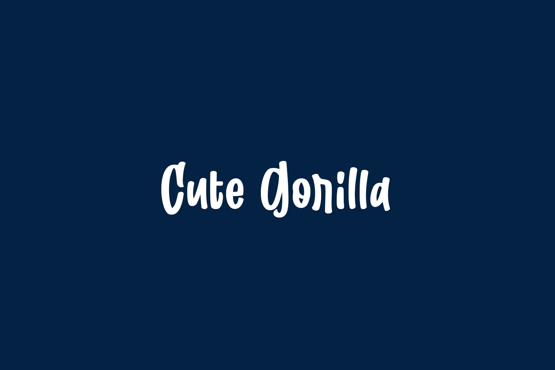 Cute Gorilla Free Font