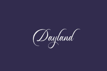 Dayland Free Font