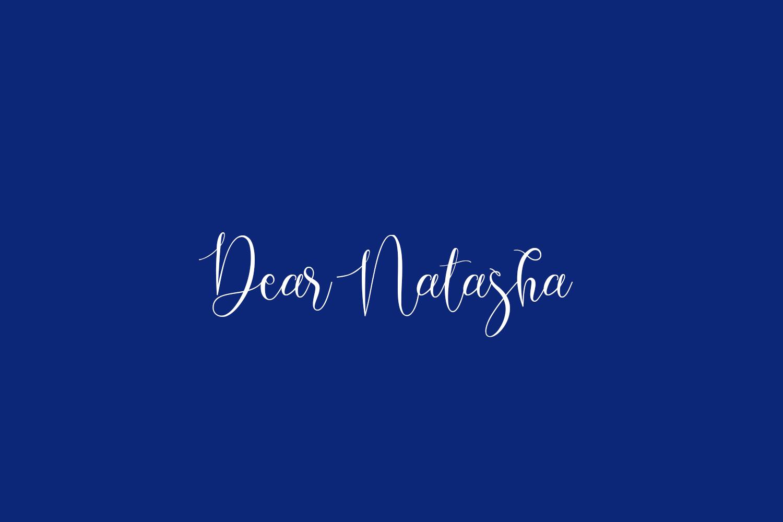 Dear Natasha Free Font