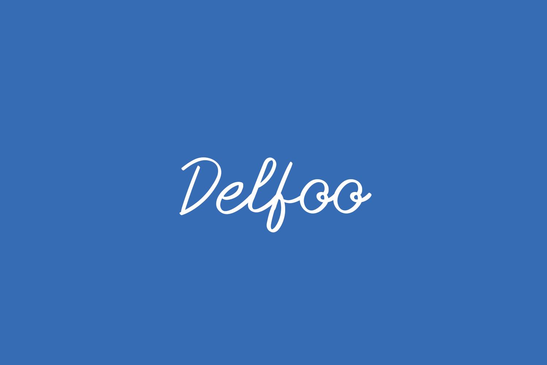 Delfoo Free Font