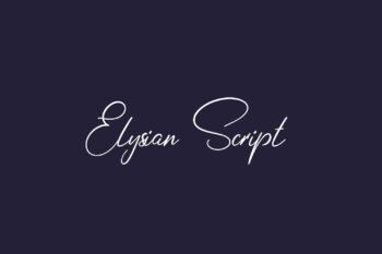 Elysian Script Free Font