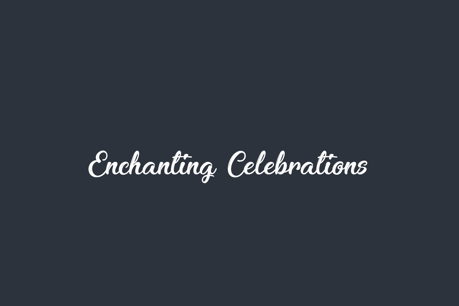 Enchanting Celebrations Free Font