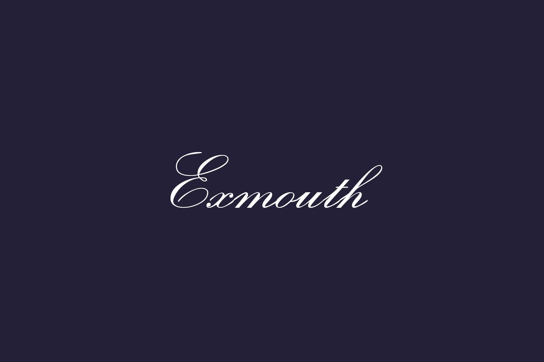 Exmouth Free Font