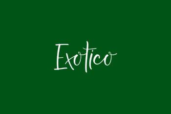 Exotico Free Font