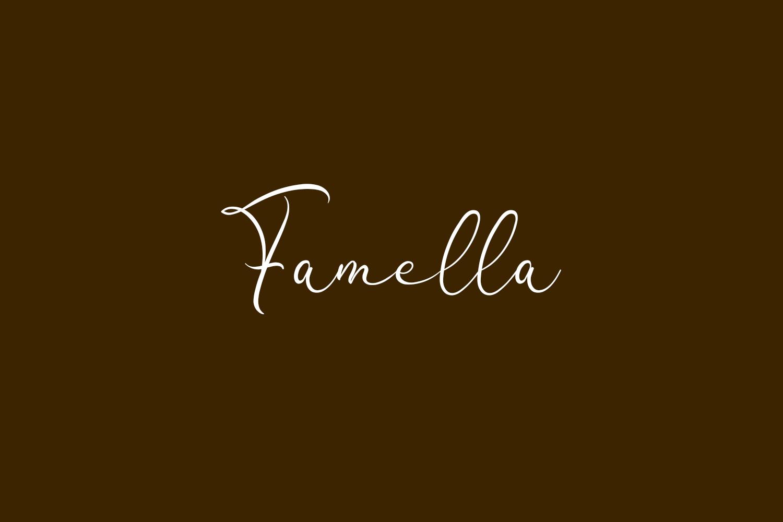 Famella Free Font