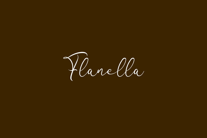 Flanella Free Font