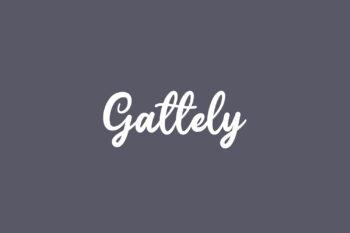 Gattely Free Font