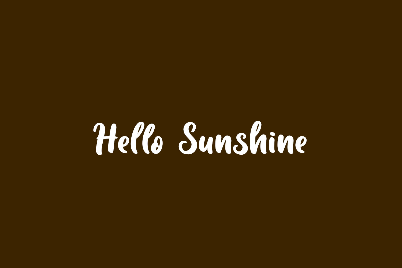 Hello Sunshine Free Font