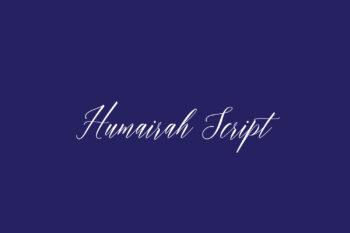 Humairah Script Free Font