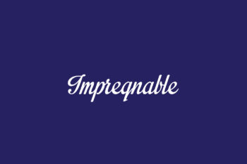 Impregnable Free Font