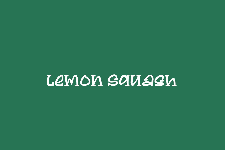 Lemon Squash Free Font