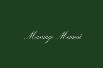 Marriage Moment Free Font